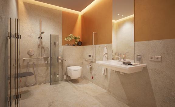 Demobild Sanitär, barrierefreies Badezimmer