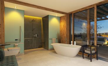 Ein schönes Beispiel für ein Barrierefreies Badezimmer
