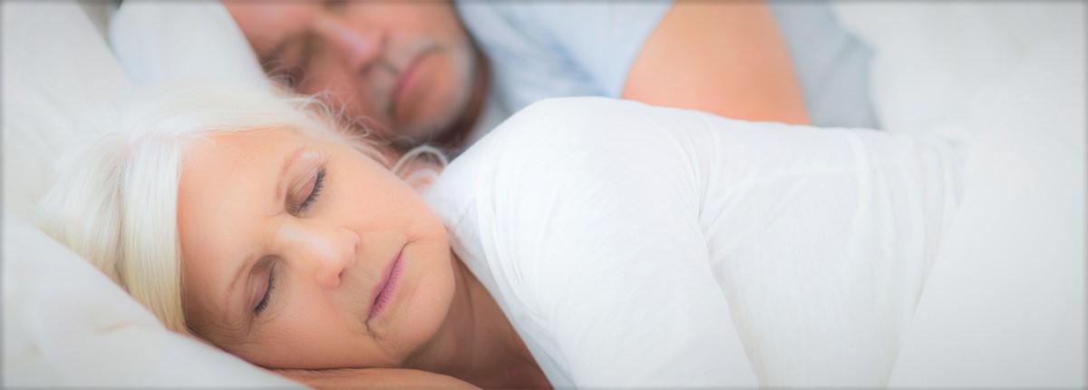 Schlafendes Paar, Header für Mühle Müller Betten